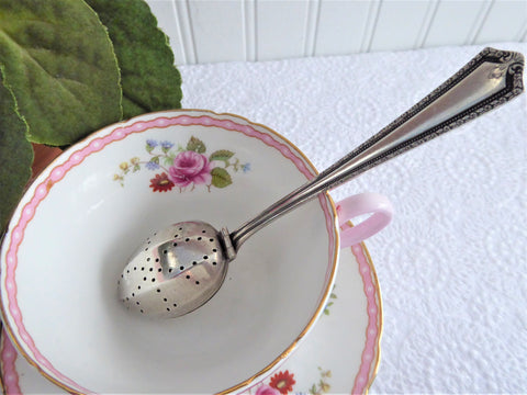 Rogers Henley Silverplate Tea Infuser Diffuser Spoon 1930 Tea Strainer In Cup