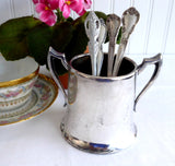 Sugar Bowl Silver Plate Spooner Colonial Style 1930s Loving Cup National Silver
