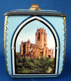 English Cathedrals Tea Tin Canister 1930s Biscuit Tin Cookie Tin