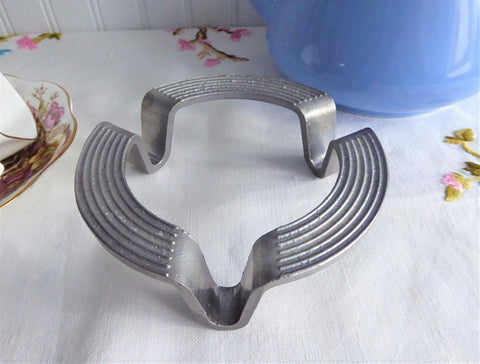 French Art Deco Aluminum Trivet 1930s Teapot Stand Escargot Stovetop Cooker