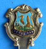 Tea Caddy Spoon Herne Bay Tea Scoop Souvenir Enamel Shield 1940s