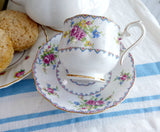 Cup And Saucer Royal Albert Petit Point Vintage 1930s English Bone China