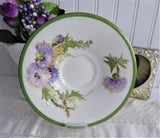 Signed Royal Doulton Glamis Thistle Cup And Saucer 1930s Hand Colored Queen Mum