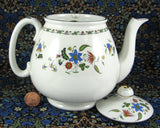 Shelley England Chelsea Teapot Floral Cambridge Tulip Shape 1930s