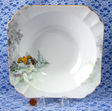 Shelley Cottage 2 Queen Anne Large Serving Bowl 9 Inch Square Bowl Art Deco