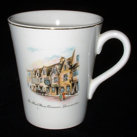 Mug Tea Coffee Wedgwood Black Horse Tavern England 1920-1930s