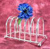 Toast Rack 1930s Retro Silver Plated English 6 Slice Toast Holder Letters Tea Party