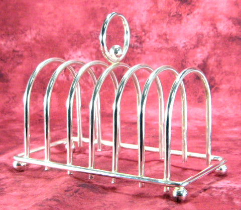 ... Toast Rack 1930s Retro Silver Plated English 6 Slice Toast Holder Letters Tea Party ...  sc 1 st  Antiques And Teacups & Toast Rack 1930s Retro Silver Plated English 6 Slice Toast Holder ...