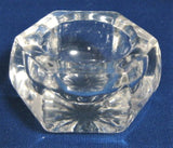 Cambridge Clear Glass Open Salt Community Pattern Dip 1930s Star Bottom