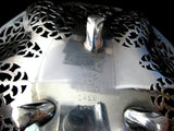 Lovelace Silver Candy Bowl Pierced International Silver 1930s Tea Party Calling Cards