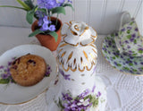 Sugar Shaker Hammersley Victorian Violets Muffineer 1930s Caster Fancy English Bone China