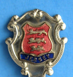Tea Caddy Spoon Jersey Tea Scoop 1930s Souvenir Enamel 3 Lions Caddy Spoon