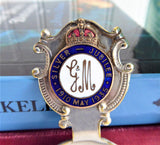 George V And Queen Mary Silver Jubilee Tea Caddy Spoon EPNS 1935 Enamel Finial