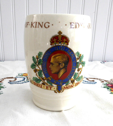 Coronation Cup King Edward VIII Beaker Abdicated 1937 British Royal Memorabilia