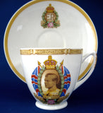 Shelley King Edward VIII Cup and Saucer Abdicated York 1937