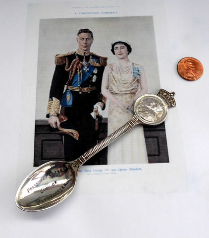 King George VI Coronation Spoon Queen Elizabeth 1937 City Of Westminster James Walker