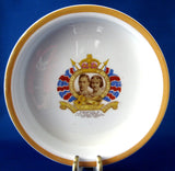 Shelley 1937 Coronation Bowl Baking Dish King George VI Royal Baby Bowl