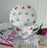 Shelley Cup And Saucer Rose Pansy Forget-Me-Not Ludlow Chintz