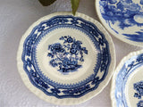 Collection 3 Blue And White Plates Masons Manchu Nasco Lakeview 1940s
