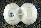 Vintage Czech Porcelain Double Open Salt Blue Onion 1940s Blue White