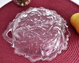 Indiana Glass Wild Rose Divided Relish Bowl Plate 2 Part 1940s Vintage Serving Tea Party