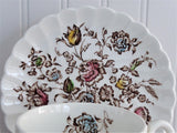 Cup And Saucer Johnson Brothers Staffordshire Bouquets Polychrome 1940s
