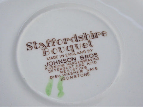 Johnson Brothers Staffordshire Bouquet Saucer England
