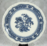 Blue Transferware Masons Manchu Cup And Saucer With Plate 1940s