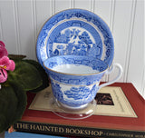 Blue Willow Cup And Saucer Royal Grafton Willow 1940s Teacup Bone China