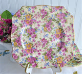 Royal Winton Grimwades Cheadle Chintz Square Salad Plate 1940s Floral Chintz