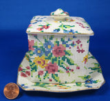 Royal Winton  Grimwades Queen Anne Chintz Jam Or Marmalade 3 Pieces 1940s