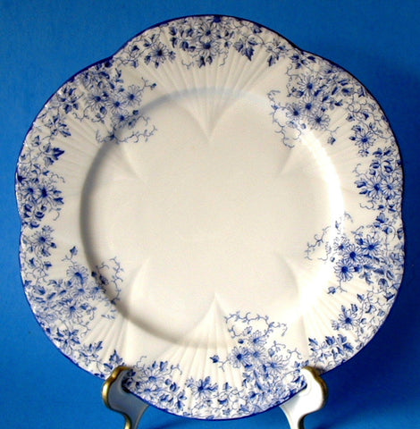 Shelley England Dainty Blue Salad Plate Sandwich Tea 1940s Tea Party