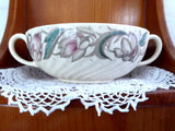 Vintage 1940s Susie Cooper Endon Ribbed Cream Soup Cup Only No Plate Burslem Modern Floral