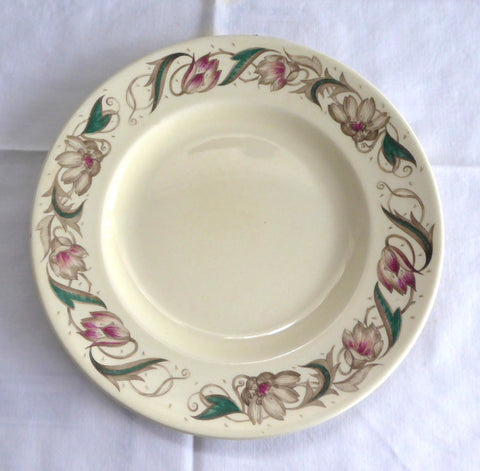 Susie Cooper Endon Salad Plate 1940s England 8 Inches Retro Tulips Smooth Rim Retro