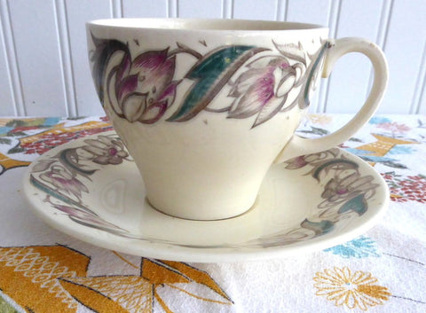 Cup And Saucer Susie Cooper Endon Teacup Retro Floral 1940s Crown Works