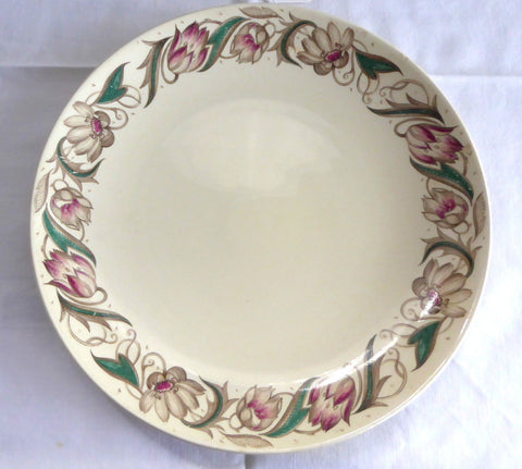 Vintage 1940s Susie Cooper Endon Smooth Luncheon Plate Retro Tulips 8.75 Inch