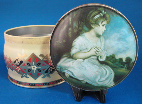 25% OFF Today! English Tea Tin Toffee Tin Reynold's Age Of Innocence Painting 1940s Vintage