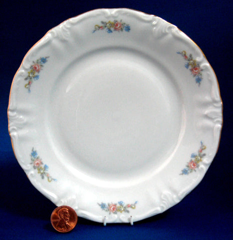 Salad Plate Winterling Bavaria Mayerling Floral Swags 8 Inches 1940s Porcelain