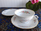 Winterling Mayerling Cup Saucer Plate Bavaria Pastel Floral 1940s Teacup Trio