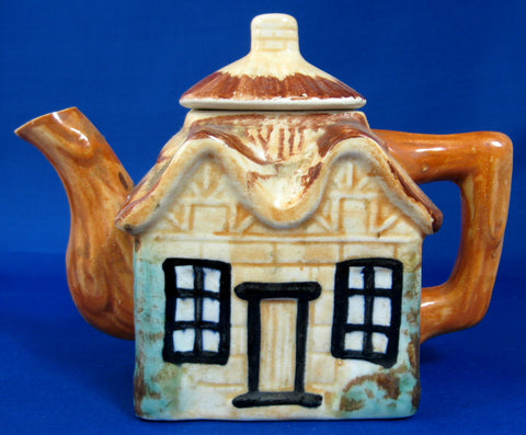 Cottage Ware Teapot Vintage 2 Cup Japan Thatched Cottage 1940s Cottageware