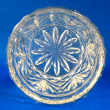 Spooner Waffle And Fan Pattern Lead Crystal USA 1940s Vase Cylinder Container