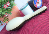 2 Tone Vintage Sock Darning Shaped Early Plastic Darner 1950 Sewing Tool Brown White