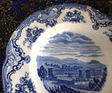 Blue Transferware 8 Inch  Chippy Bowls 3 Old Britain Castles Johnson Brothers Older 1950s