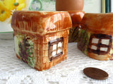 4 Cottageware Egg Cups Price Kensington England Hand Painted 1950s