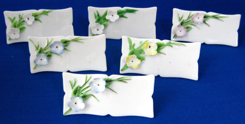 Place Cards Name Cards Floral Bone China Set Of 6 Vintage Japan 1950s Boxed