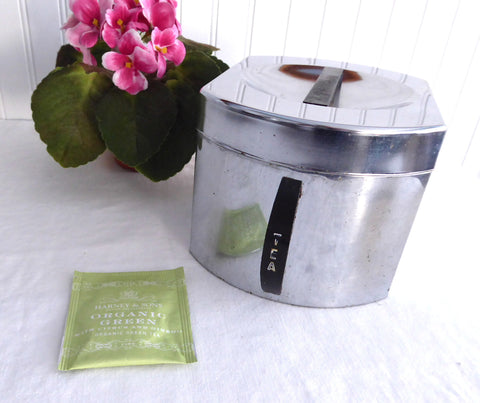 Retro Chromex Chrome Tea Canister Caddy Retro 1950s Mid Century Industrial