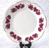 Purple Ivy Leaves Bread And Butter Plate 1950s English Bone China Clare Cake