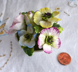 Coalport Bone China Paperweight Staffordshire Posy Anemone Bowl Hand Made 1950s