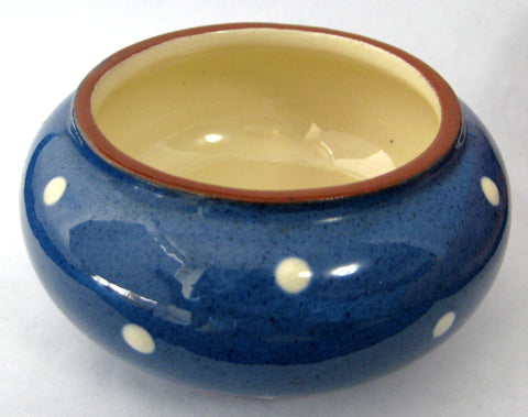 Sugar Bowl Princess Margaret Polka Dots Dartmouth Pottery Devon Sugar Basin 1950s