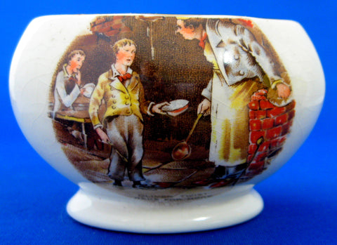 Dickens Ware Oliver Twist Sugar Basin Vintage English 1950s Character Sugar Bowl